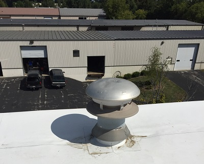 Commercial flat roof repair in Columbia County Wisconsin