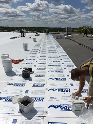 Industrial roof in Madison built to Wisconsin commercial building code