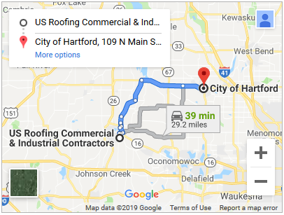 Commercial roof repair in Hartford Wisconsin