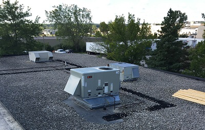 Commercial flat roof repair in Jefferson County Wisconsin