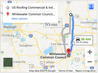 Commercial roof repair in Whitewater Wisconsin
